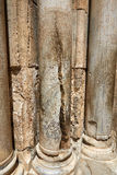Columns of the Temple of God which was hit by lightning Stock Photo