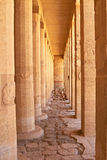 Columns in Temple of Hatshepsut, Luxor, Egypt. Columns in Temple of Queen Hatshepsut, linear perspective Stock Image
