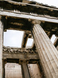 Columns of Temple of Hephaestus in Athens Royalty Free Stock Photos