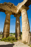 Columns of The Temple of Hera (Temple E) at Selinu Stock Photography