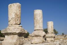 Columns. Temple of Hercules, Jordan Royalty Free Stock Images