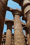 Columns of the Temple of Karnak Stock Images