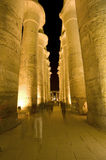 Columns in temple at night Royalty Free Stock Image
