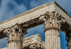 Columns at the Temple of Olympian Zeus stock photography