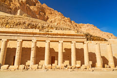 Columns in the Temple of Queen Hatshepsut Royalty Free Stock Images