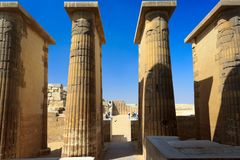 Columns of the temple at Saqqara Royalty Free Stock Photos
