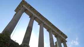 Columns of the Temple of Saturn, Roman Forum, Rome, Italy
