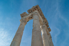 Columns of the Temple of Trajan Stock Photography