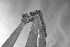 Columns of the Temple of Trajan Stock Photos