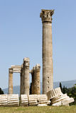 Columns of the Temple of Zeus Royalty Free Stock Photos
