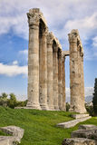 Columns of Temple of Zeus in Athens Stock Photography