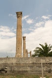 The columns of the temple of Zeus in Athens (Greece). Royalty Free Stock Image