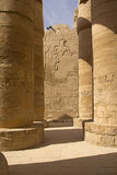 Columns of the Temples of Karnak ( Egypt) Stock Photography