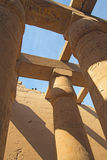 Columns of the Temples of Karnak ( Egypt) Royalty Free Stock Photo