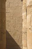 Columns of the Temples of Karnak ( Egypt) Stock Photo