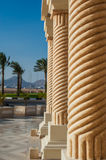 Columns in the territory of the Egyptian hotel Stock Photography