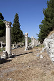 Columns in The Tetragonos Agora. Of Ephesus. Izmir, Turkey Royalty Free Stock Photography