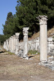 Columns in The Tetragonos Agora. Of Ephesus. Izmir, Turkey Royalty Free Stock Images