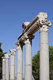 Columns in The Tetragonos Agora Stock Photo