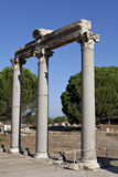 Columns in The Tetragonos Agora. Of Ephesus. Izmir, Turkey Royalty Free Stock Photo