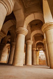 Columns in Thanjavur palace Stock Photography