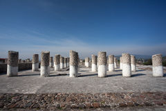 Columns in Tula de Allende Stock Photography