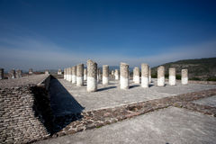 Columns in Tula de Allende Royalty Free Stock Photos