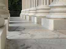 Columns at the United States Supreme Court Royalty Free Stock Image