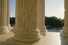 Columns at US Supreme Court Royalty Free Stock Photography
