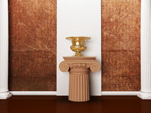 The columns and a vase Royalty Free Stock Photography