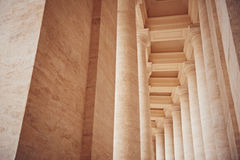 Columns in Vatican City. The Bernini's colonnades at the Saint Peters Square, Rome Stock Images