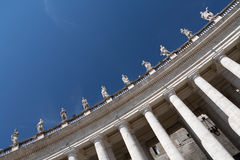 Columns in Vatican - st. peter's basilica Royalty Free Stock Image
