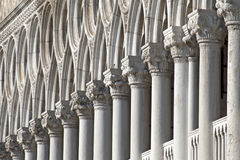 Columns in Venice. Columns in row Venice at Dodge Palace Stock Photography
