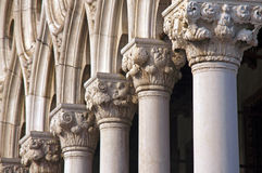Columns in Venice. At Dodge Palace Stock Photography