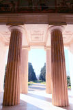 Columns. Villa Bordonaro entrance Royalty Free Stock Image