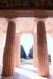 Columns. Villa Bordonaro Entrance Royalty Free Stock Image