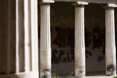 Columns in Villa Oplontis Stock Image