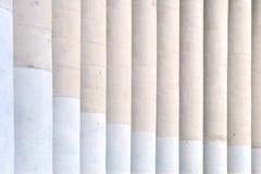 Columns and visual rhythm. Columns of the building create an interesting visual rhythm stock photography