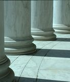Columns in Washington with short depth of field. Picture of columns in Washington with short depth of field Royalty Free Stock Images