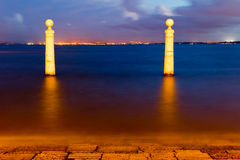 The Columns Wharf Viewpoin in Lisbon Royalty Free Stock Photo