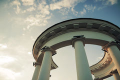 Columns white Stock Photography