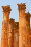 Colums em Jerash fotografia de stock