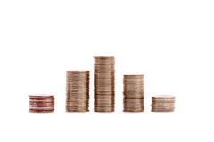 colums vom Geld Lizenzfreies Stockfoto