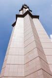 Coluna branca no fundo do céu azul, Kuala Lumpur, Malásia Imagem de Stock