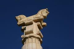 Coluna coberta com cavalos Imagens de Stock Royalty Free