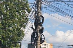 Coluna com fio foto de stock