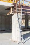 Coluna concreta sob a construção Imagens de Stock Royalty Free