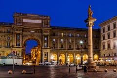 A coluna da abundância no della Repubblica da praça imagem de stock royalty free