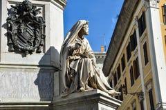 A coluna da concepção imaculada com a estátua do profeta Isaiah Foto de Stock Royalty Free
