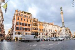 Coluna da concep??o imaculada, Roma foto de stock royalty free